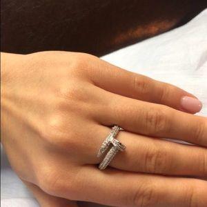 18k GP Nail Ring